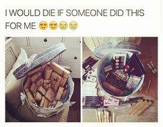 If it was good instead of makeup that'd be GREAT! I don't care about makeup but if that was good THEN I would die. Boyfriend Goals, Future Boyfriend, Ideal Boyfriend, Cute Relationship Goals, Cute Relationships, Cute Couples Goals, Couple Goals, Win My Heart, Girly Things