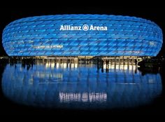 The Allianz Arena is definitely on my Top 10 stadiums to visit list. Home to the mighty FC Bayern Munich as well as TSV 1860 Munich, the stadium's facade is made of foil air panels that are kept inflated with dry air. These panels can be lit up to any color, depending on what teams are playing, or to a certain event. The recent 2012 UEFA Champion's league Final was held in this arena.