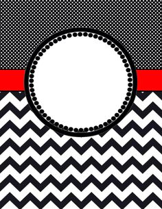 moroccan and chevron binder covers two versions both black and red