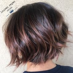 60 Most Beneficial Haircuts for Thick Hair of Any Length Textured Chin-Length Bob – Razor-cut ends bring a great edginess to any style, and when paired with a short bob, you get a hairdo that works for straight thick hair. Keep the layers simple, so you Short Layered Haircuts, Short Hairstyles For Thick Hair, Haircut For Thick Hair, Short Hair Cuts, Short Bobs, Layered Bobs, Wavy Bobs, Pixie Haircuts, Layered Bob Thick Hair