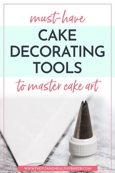 Has the cake decorating bug bitten you? Wondering what tools you need to take your cake art to the next level? Click through for 14 must-have Cake Decorating Tools to master cake art. Cake Decorating Company, Creative Cake Decorating, Wilton Cake Decorating, Cake Decorating Techniques, Cake Decorating Tutorials, Creative Cakes, Cookie Decorating, Decorating Ideas, Cake Decorating For Beginners