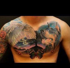 Doberman tattoo