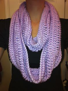 Free #crochet Pattern for #infinity #scarf