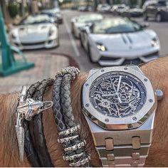 Power combination by @SPJeweler Audemars Piguet Royal Oak Skeleton x #StingHD x luxury cars   #LoveWatches