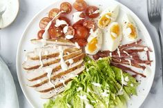 Cobb salade Low Calorie Recipes, Keto Recipes, Healthy Recipes, Low Carp, Lucky Food, Weight Watchers Meals, Clean Recipes, Meal Planning, Breakfast Recipes