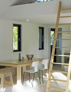 A modular vacation cottage by Møn Huset Small House Images, Small House Design, Black House Exterior, Sleeping Loft, Two Bedroom, Bedrooms, My Dream Home, Small Spaces, Denmark