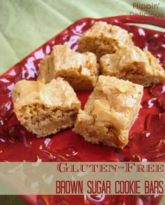 Sweet, chewy with that little flaky crust on the top just the way we like it. These Gluten-Free Brown Sugar Cookie bars are rich and packed with flavor.