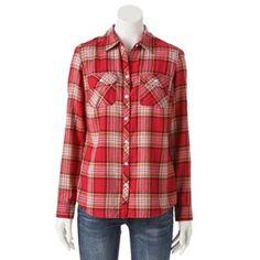 Croft & Barrow® Plaid Flannel Shirt - Women's