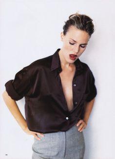 "UK Vogue November 1994 ""Great Good Buys"" Model: Unknown Photographer: Mikael Jansson Stylist: Kate Phelan Hair: Mike Lundgren Makeup: Katarina Hakansson"