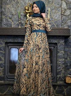 Stunning hijab dress.