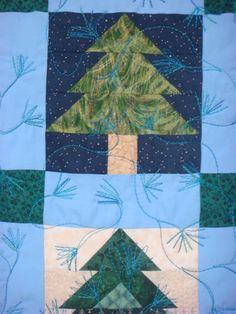 Detail - Pine Tree Quilt by Peggy Nagle, Elora, Ontario