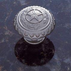 JVJ Hardware Pewter 1 3/8 Inch Texas Star Knob