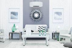 Pinta tu casa con los colores de primavera - Decorabien.com #grises #salon #DIY #moderno #blanco #sofa #estilo #decoracion #hogar #piso #espacio #pequeño #alfombra #blanca #inspírate #deco #ideas