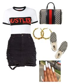 """Over you"" by lilkeeks ❤ liked on Polyvore featuring Hood by Air, Vans and Gucci"