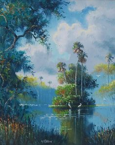 Florida Highwaymen Paintings Values - Bing images Seascape Paintings, Oil Painting Abstract, Landscape Paintings, Indian Paintings, Oil Paintings, Painting Art, Watercolor Painting, Selling Paintings, African American Artist