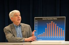 The charts Gov. Rick Snyder used Feb. 21, 2013 to layout Detroit's financial problems.