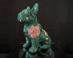 Mosaic Art, Dinosaur Stuffed Animal, French, Animals, Instagram, Videos, Pink, Crystals, Handmade