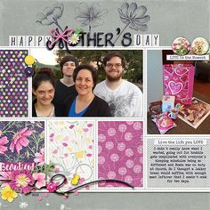 I used Field of Dreams {kit} By KimB and template is Stitched Grids v2 by Scotty Girl Designs.