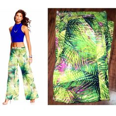 XOXO Palazzo Pants Brand new! Only worn once! Wide leg pants! Really cute for summer and spring! Has shorts built inside, so you can wear it without any underwear lines showing, and an elastic back for a comfort fit. XOXO Pants Wide Leg