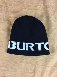 d59dcfd2748 Burton Mens Winter Hat Beanie Snowboarding Ski Cap Black Reversible White   fashion  clothing