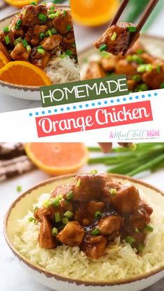 A Homemade Orange Chicken Recipe that tastes better than any take out meals! Made with tender chicken breasts and sweet and spicy citrus sauce, this healthy homemade orange chicken dish is the best! Save this dinner recipe for later! Easy Crockpot Orange Chicken Recipe, Orange Recipes Healthy, Crispy Orange Chicken Recipes, Orange Chicken Sauce, Baked Orange Chicken, Chicken Recipes At Home, Healthy Orange Chicken, Chicken Sauce Recipes, Desserts