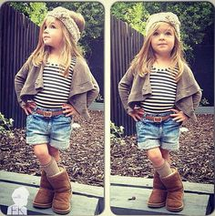 I hope to one day be as stylish as this little girl...