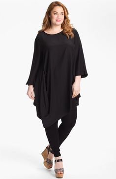 Lafayette 148 New York 'Barrymore' Silk Tunic (Plus) available at Nordstrom