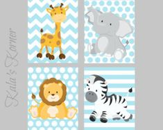 AIRPLANE Nursery Prints airplane Print Set boys by KalasKorner
