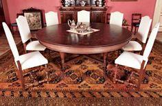 Round Table - oak - 1890 Table Desk, Dining Table, Walnut Wood, Antique Furniture, Restoration, Art Deco, Chair, Antiques, Home Decor