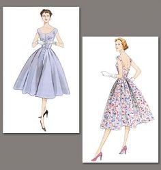 Knappar och axlar, lite mer påklädd Vogue 2960 symönster mönster klänning