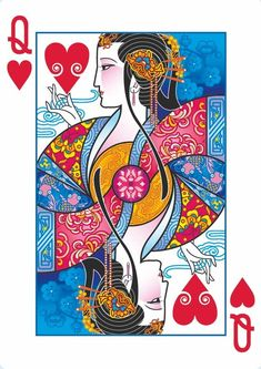 "#PlayingCardsTop1000 - ""Emperor"" playing cards inspired by Chinese history queen of hearts"