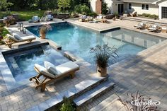 The Platinum Group is redefining Long Island landscape design and pools. Top gunite pool builder in Long Island, NY, including Cold Spring Harbor. Swimming Pool Landscaping, Luxury Swimming Pools, Luxury Pools, Dream Pools, Swimming Pool Designs, Inground Pool Designs, Ideas De Piscina, Living Pool, Pool Cost