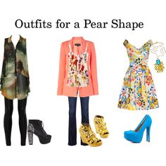 How To Dress For Your Body Type...love the middle outfit! Not sure about the shoe color though...