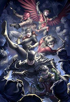 W la Batfamily!! SPACCA LA TESTA A TUTTI, NIGHTWING!! Ehm, spiacente, non mi trattengo ;)