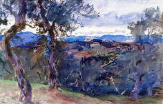 John Singer Sargent (1856-1925)Hillside (c. 1910) watercolor 33.97 x 53.02cmMuseum of Fine Arts, Boston