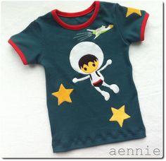 Liandlos Astronaut auf Shirt - by aennie