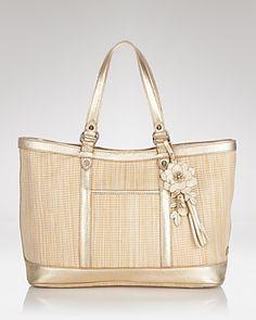 32769184cd0e Cole Haan Tote - Serena Jitney Straw Handbags - Totes - Bloomingdale s