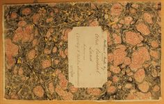 Marbled cover of reference book and map of that part of the Frome to Warminster branch of the proposed Bath and Weymouth Great Western Union Railway relating to the intended line of the railway across extra-parochial land between Corsley and Upton Scudamore. (WSHC ref 1179/28)