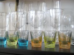 how to paint glass - need this info for my ceiling fan globes, not my shot glasses :)