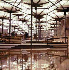 Pabellón de los hexágonos | CIRCARQ Le Corbusier, Geometric Origami, Miguel Angel, Madrid, Exterior, Architecture, Twitter, Editorial, Mid Century