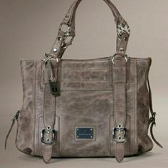Gorgeous Frye handbag Shoulder bag, gray/brown washed leather. Worn a few times has no rips, stains or tears. EUC Frye Bags Shoulder Bags