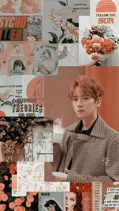 K Wallpaper, Tumblr Wallpaper, Cellphone Wallpaper, Kpop Exo, Exo Chanyeol, Aesthetic Collage, Red Aesthetic, Kpop Wallpapers, Collages