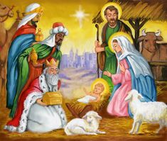 Gifts for the Newborn King by Joseph Holodook ~ Nativity of Jesus