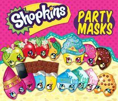 15 Shopkins Party Theme Digital Birthday Mask by OhWowDesign
