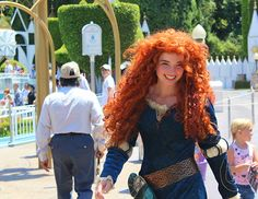 Real Life Merida. Wow, even without the hair her face looks just like Merida's. Cool.