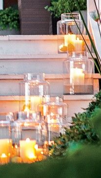 Oversized outdoor candles