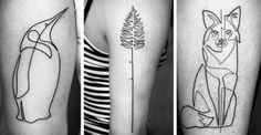 Stunning one continuous line tattoos are more complex than they appear at first glance.
