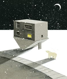 Illustrator Creates Beautiful Animated GIFs About a Mysterious Imaginary Town