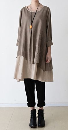 2016 fall layered maternity dress plus size shift dresses long sleeve