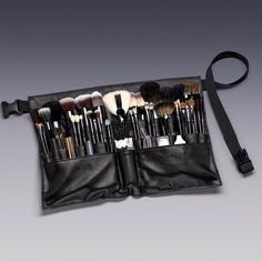MUA's! Keep organized while you work with our 28-Pocket Brush Belt! $9.75 Each. Part # 599809 *Contents in brush belt are sold separately. #MUA #MakeupArtist #PROMUA #brushes #makeupbrushes #qosmedix